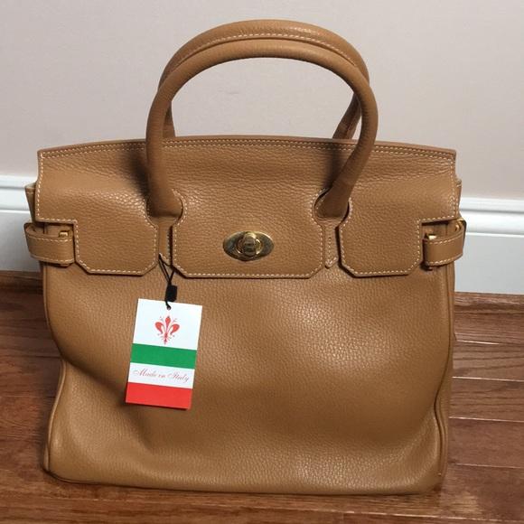d57fb166c6dd Handmade Italian Leather Birkin Inspired Handbag